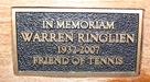 Warren Ringlien's memorial bench