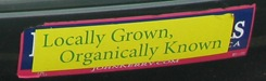 Locally Grown bumper sticker