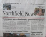 Aug. 8 2009 Northfield News front page