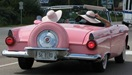 pink 1956 Ford Thunderbird