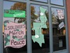 A Soldier's March for Peace window display