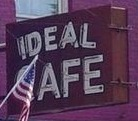 Ideal Cafe sign
