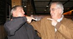 Griff Wigley and Doug McGill in a bar fight at the Contented Cow