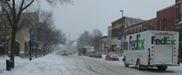 Snow piles downtown Northfield