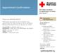 blood donation appt confirmation