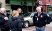Friday, 10:27 am: Former City Admin Pete Stolley, City Engineer Katy Gehler, Mayor Mary Rossing, Deputy Police Chief Chuck Walerius,