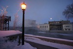 Downtown Riverwalk at 22 below zero