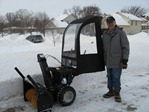 John George with his snow blower