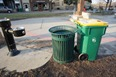 recycling bins in downtown Northfield