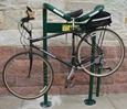 Bike repair stand at St. Olaf's Buntrock Commons
