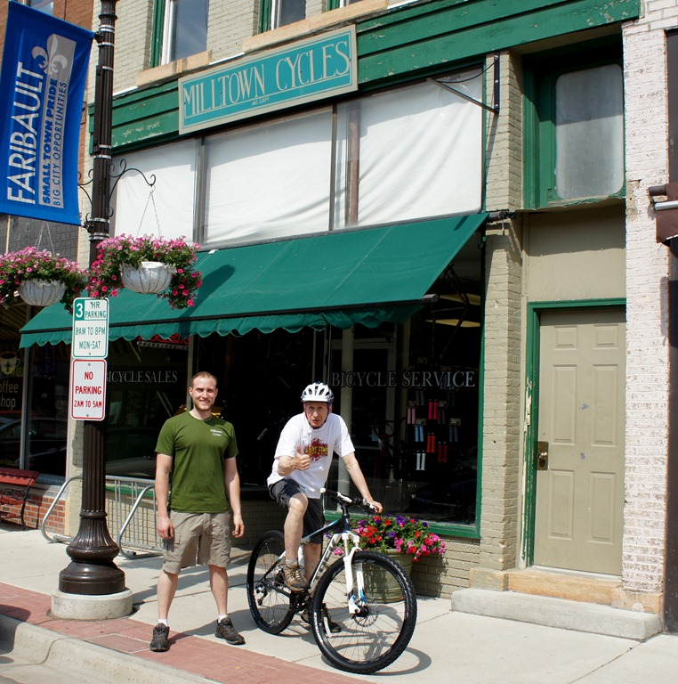 9bd0b6470a1 Ben Witt and Griff Wigley with a Gary Fisher X Caliber at Milltown Cycles  in Faribault ...