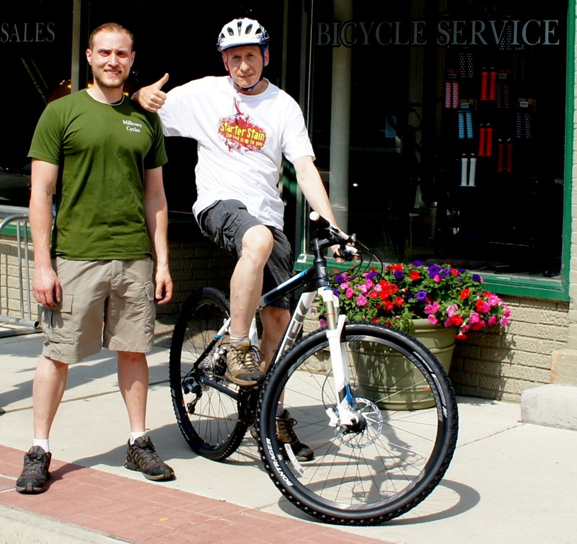 b287e8cc069 ... Ben Witt and Griff Wigley with a Gary Fisher X Caliber at Milltown  Cycles in Faribault