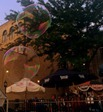 big soap bubbles in downtown Northfield