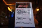 Breakfast menu, Old Town Tavern in Morristown