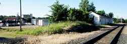 Future location of the Northfield train depot