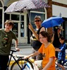 Jessica Paxton and the boys in the Northfield film shoot: Girl Meets Bike