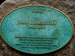 John Liebenstein memorial on the Mill Towns Trail, 2004