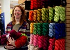 Cynthia Gilbertson, owner, Northfield Yarn