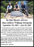 Shea Stremcha - eulogy by Jesse Stremcha
