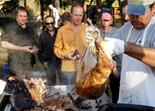 Glenn Switzer's roasted hog