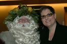 Father Xmas and Mary Closner; photo by Bridgette Hallcock