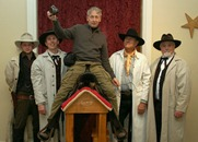 Griff Wigley with the James Gang at the Northfield Historical Society, Winter Walk 2011