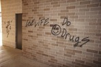 graffiti at the Carleton College Rec Center