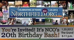 NCO/Northfield.org birthday bash banner