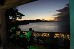 The deck at Al's Mar Azul in Vieques, PR