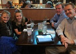 Dinner at Tokyo Grill, prior to the Northfield Area Family YMCA's Daddy Daughter Dance