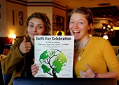 Helen and Antonia with the Northfield Earth Day 2012 poster