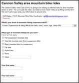 Cannon Valley area mountain bike rides