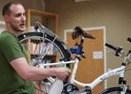 Ben Witt teaching basic bike maintenance