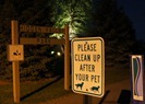 pet waste sign at entrance to Hidden Valley Park