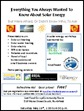 Solar Energy Workshop Flyer 2012