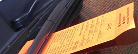 Issuing parking tickets in downtown Northfield