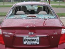 Dokmo Ford Chrysler cars damaged by hail, 2006