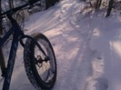 fat bike on a packed trail: excellent