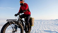 Explorer Eric Larsen on a Surly Moonlander