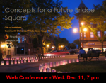 Register/attend the Bridge Square live web conference, Wed. Dec. 11, 7 pm