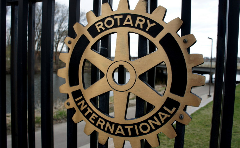 Rotary's cogwheel logo has nothing to do with bicycling. However…