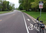 Bike lane one side