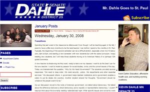 Dahle blog screenshot